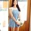 Cherry KOKO เดรสผ้าฝ้ายสีฟ้า ตัดต่อผ้าฉลุลายดอก thumbnail 2