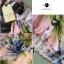 Lady Ribbon ชุดเซ็ทเสื้อเปิดไหล่และกางเกงเอวสูง สีชมพู สีฟ้า thumbnail 10