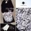 Lady Ribbon เซ็ตเสื้อชีฟอง กระโปรงพิมพ์ลายกราฟฟิค โทนขาวดำ thumbnail 10