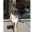 เสื้อตัวยาว ผ้าชีฟอง พิมพ์ลายกราฟฟิก สีขาว สีดำ thumbnail 1