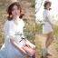 Lady Ribbon มินิเดรสผ้าลูกไม้สีขาว ฉลุลาย น่ารักหวานใส thumbnail 5