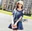 Lady Ribbon Flower Cut-Out Ripped Washed Denim Dress thumbnail 3