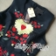 Lady Ribbon D&G Red Florals Embroidered Black Dress thumbnail 8