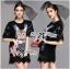 Lady Ribbon Kitty Printed Insert Lace Jersey Dress thumbnail 3