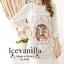 Ice Vanilla เดรสผ้าพิมพ์ลาย Retro แต่งแขนด้วยผ้าชีฟอง thumbnail 5
