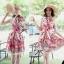 Lady Ribbon Rosalyn Dress เดรสลายดอกไม้ พร้อมริบบิ้นผูกเอว thumbnail 4