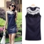 Marsh Mallow Jewels and Beaded Navy Blue Luxury Dress thumbnail 9