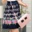 Ice Vanilla Rose and Bow Dress แต่งลายโบว์ และดอกกุหลาบ thumbnail 3