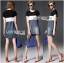 Lady Ribbon Casual Colorblock Denim Dress thumbnail 1