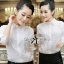Lady Ribbon Shirt เสื้อเชิ้ตสีขาว แต่งผ้าลูกไม้น่ารัก thumbnail 4