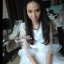 CelebStyle White Organza Dress เดรสผ้าแก้วสีขาว แต่งระบาย thumbnail 5