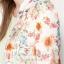 BERSHKA เสื้อคลุมคาร์ดิแกน ลายดอก thumbnail 4