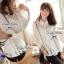 Lady Ribbon เสื้อผ้าแก้วทรงเชิ้ต ปักดอกไม้ สีขาว / สีดำ thumbnail 3