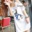 Seoul Secret Navy Doggy Print Tang-Top Dress thumbnail 3