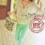 Lady Ribbon Bohemian pastel blouse เสื้อปักดอกไม้ สีพาสเทล thumbnail 1