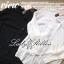 Lady Ribbon Sassy Shirt เสื้อเชิ้ตแขนยาว ตัดต่อผ้าตาข่าย ซีทรู สีขาว+สีดำ thumbnail 11