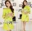 Lady Ribbon Eastern Blossom Print Dress in Green thumbnail 2
