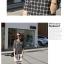 เสื้อตัวยาว ผ้าชีฟอง พิมพ์ลายกราฟฟิก สีขาว สีดำ thumbnail 4