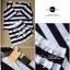 Stripe Jersey Mini Skirt Set เซ็ตเสื้อ กระโปรง ลายขวางขาวดำ thumbnail 10