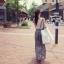 Odee Cutie ชุดเซ็ทเสื้อแขนกุด กระโปรงยาวผ้าชีฟอง thumbnail 3