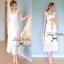 Lady Ribbon Sweet Lace Maxi Dress เดรสยาวผ้าลูกไม้สีครีม thumbnail 2