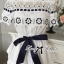 Lady Ribbon Sleeveless Flower Embroidered Cotton Top thumbnail 6