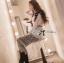 Lady Ribbon เสื้อเชิ้ตแขนยาว สีขาว ต่อผ้าลูกไม้ซีทรูเป็นกระโปรงยาว thumbnail 3