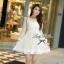 Lady Ribbon Lace Dress เดรสชีฟองแขนยาว ชายระบายลูกไม้ thumbnail 1