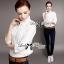 Lady Ribbon Shirt เสื้อเชิ้ตสีขาว แต่งผ้าลูกไม้น่ารัก thumbnail 1