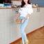 Cliona White Lace Blouse เสื้อขาวแต่งลูกไม้ซีทรูและระบายอก แขนตุ๊กตา thumbnail 2