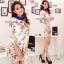 Cliona Lace Print Dress เดรสลูกไม้ ลายดอกไม้ ปกคอเชิ้ต thumbnail 1
