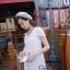 Ivory Knit Mini Dress มินิเดรสไหมพรม สีโทนอ่อน thumbnail 4