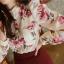 เสื้อแขนยาว ผ้าชีฟอง สีเบจ พิมพ์ลายดอกไม้ thumbnail 6