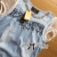 Lady Ribbon Crystal Embellished Denim Ensemble Set thumbnail 5