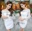 Lady Ribbon Elegant Crystal Embellished Insert Lace Dress thumbnail 5