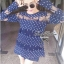 Lady Ribbon เดรสลายจุด ดีเทลเล่นเลเยอร์ ซีทรู สีน้ำเงิน thumbnail 4
