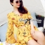 Lady Ribbon Floral Printed Cut-Out Twist Jumpsuit in Yellow thumbnail 4