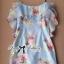 Lady Ribbon Sweet Floral Printed Silk Cotton Ruffle Dress thumbnail 9