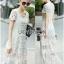 Lady Ribbon Maxi Dress เดรสยาวผ้าลูกไม้สีขาว thumbnail 4