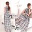 Lady Ribbon Maxi Dress เดรสยาว ผ้าพิมพ์ลายตาราง thumbnail 8