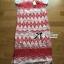 Lady Ribbon Tribal Embroidered Silk Chiffon Midi Dress thumbnail 6