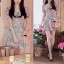 Lady Ribbon Blooming Pastel Dress เดรสพิมพ์ลายดอกไม้สีพาสเทล thumbnail 3