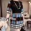 Bohemian Style Dress มินิเดรสแขนสั้น ลายกราฟฟิก thumbnail 6