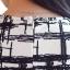 IceVanilla Striped Printed Dress เดรสผ้าพิมพ์ลายเส้นตารางขาวดำ thumbnail 8