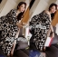 Lady Ribbon Black and White Daisy Wrap Maxi Dress thumbnail 4