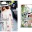 Lady Ribbon เดรสแขนยาวปักลายดอกกุหลาบสีชมพู thumbnail 5