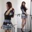 Bohemian Style Dress มินิเดรสแขนสั้น ลายกราฟฟิก thumbnail 4