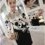 Lady Ribbon Elegant Monochrome Embroidered Lace Dress thumbnail 3