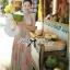 Lady Ribbon Colourful Chiffon Pleated Maxi Dress thumbnail 5