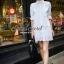 White Lace Mini Dress Shirt by Seoul Secret thumbnail 2